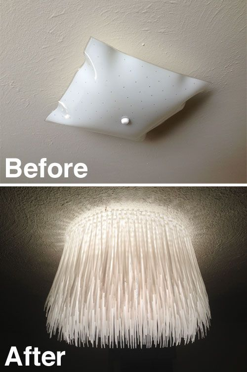 Zip Tie Light Cover B A I M So Doing This For My Kitchen And Hallway