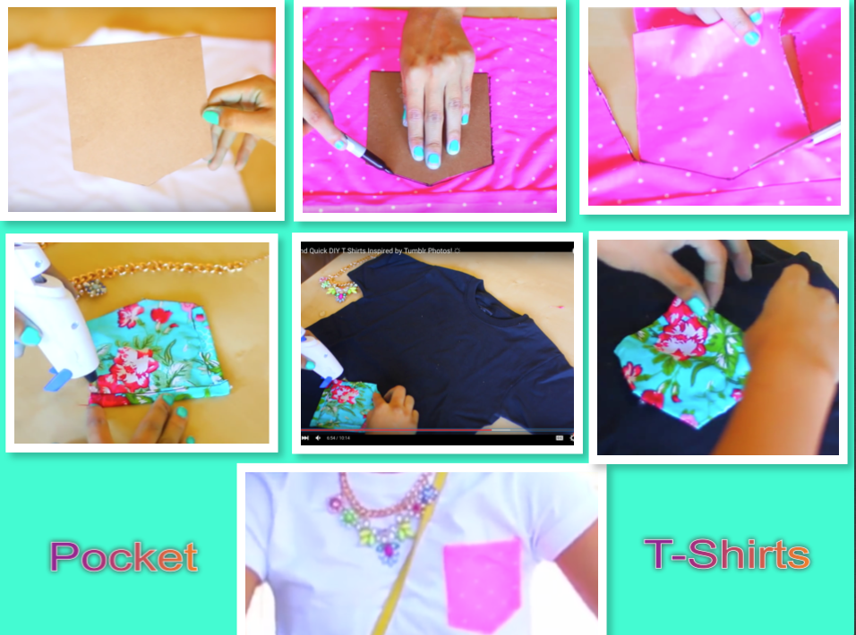 Easy and quick DIY's pocket T-shirts ❤️