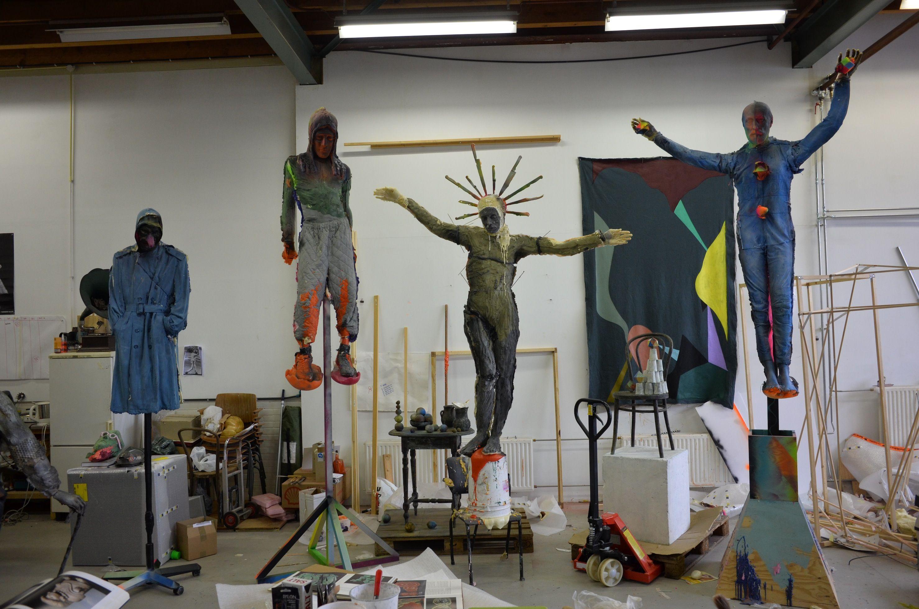 Folkert de Jong, Mobius Man, The Psalter man, Universal Man, 5 Star 40-40, 2014, Courtesy Galerie Dukan