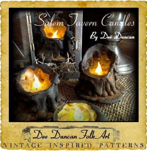 DIY Fall Halloween Decor Candles - Pattern $200 Sale Digital - halloween catalog