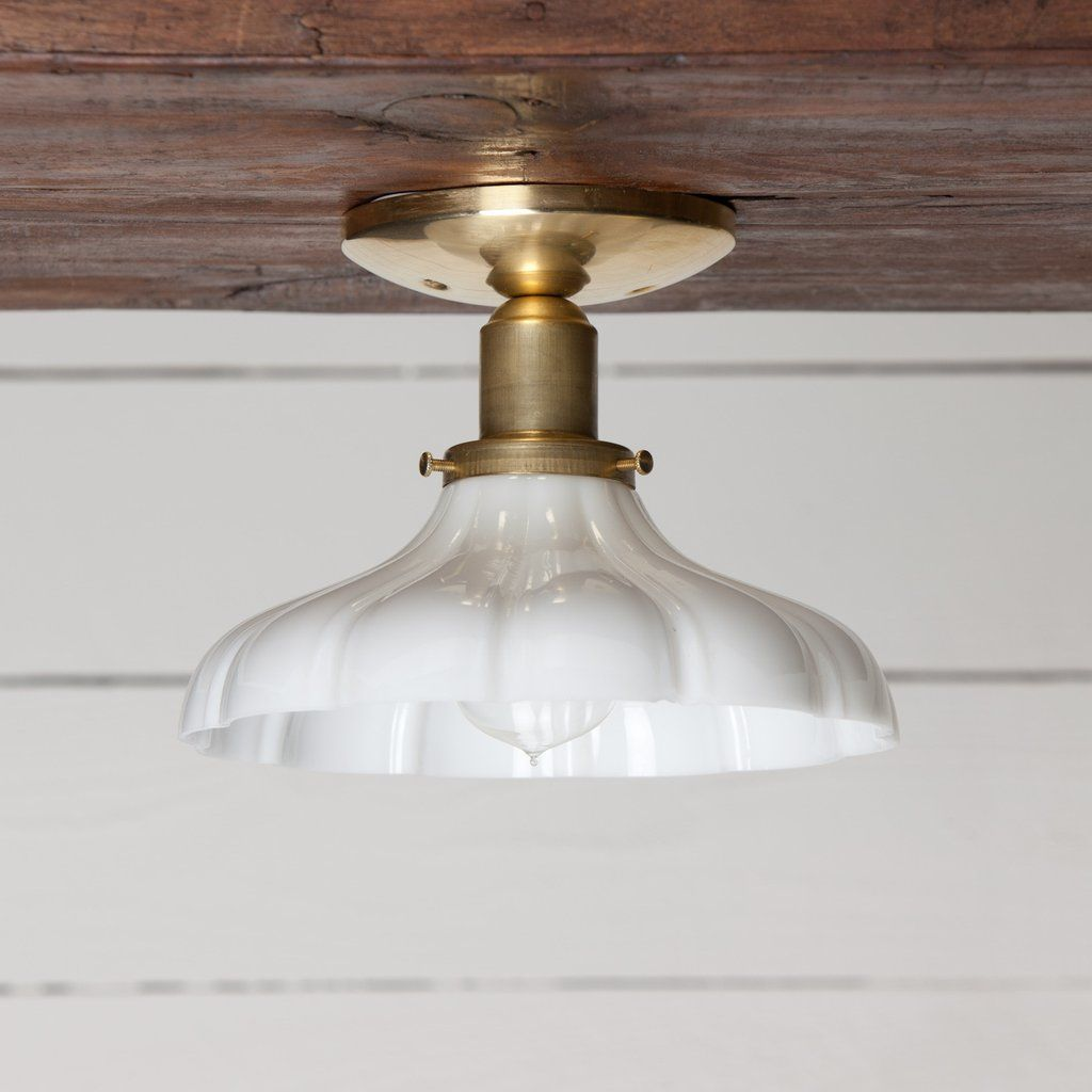 Vintage milk glass ceiling light brass base milk glass mounting this brass shade ceiling light features brass socket raw brass fittings vintage milk mozeypictures Image collections