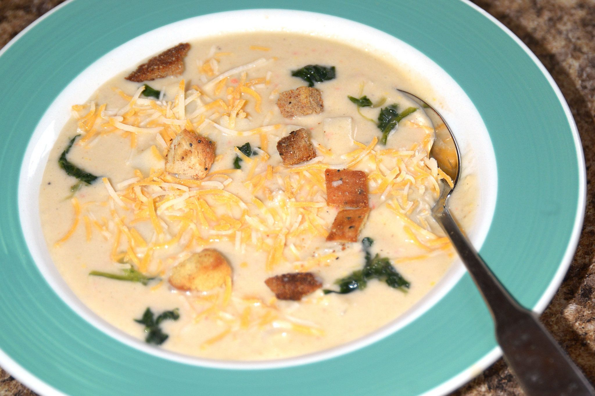 Cheesy Potato Florentine Soup