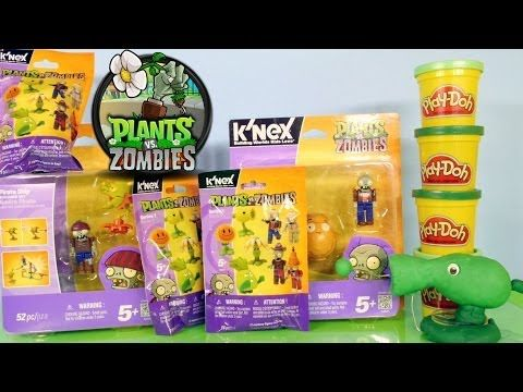 Plants Vs Zombies Super Unboxing Wild West Playset Surprise Packs Play Doh By Disney Cars Toy Club - YouTube