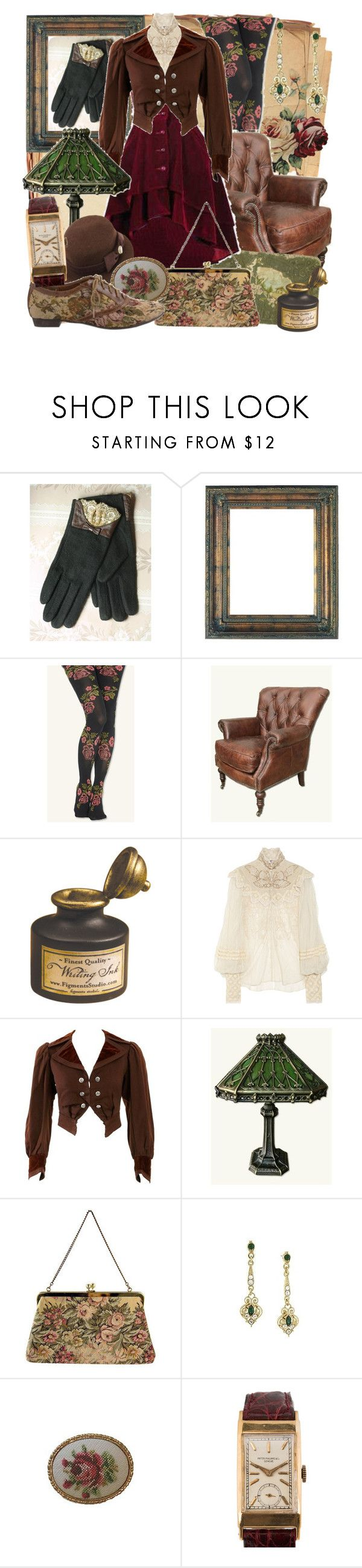 """Antique Addict"" by larkspurlane ❤ liked on Polyvore featuring Ralph Lauren Collection and Patek Philippe"