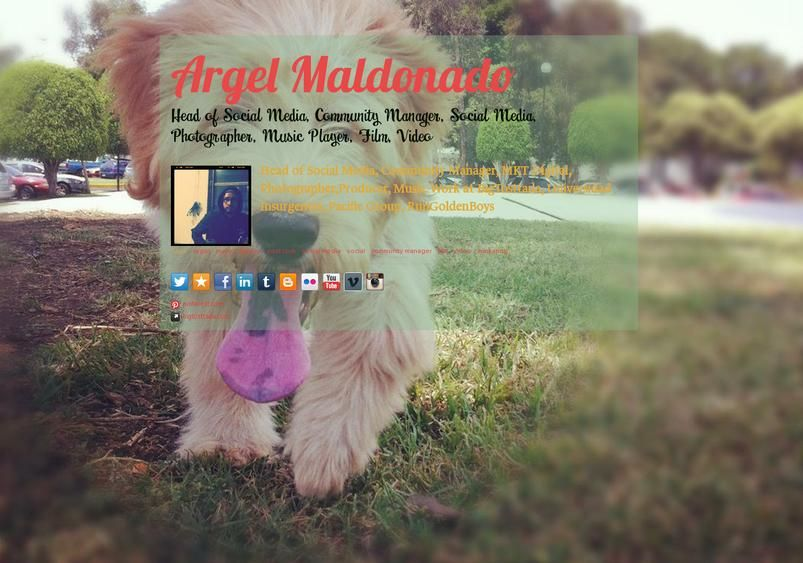 Check out my aboutme page! Social Media Pinterest
