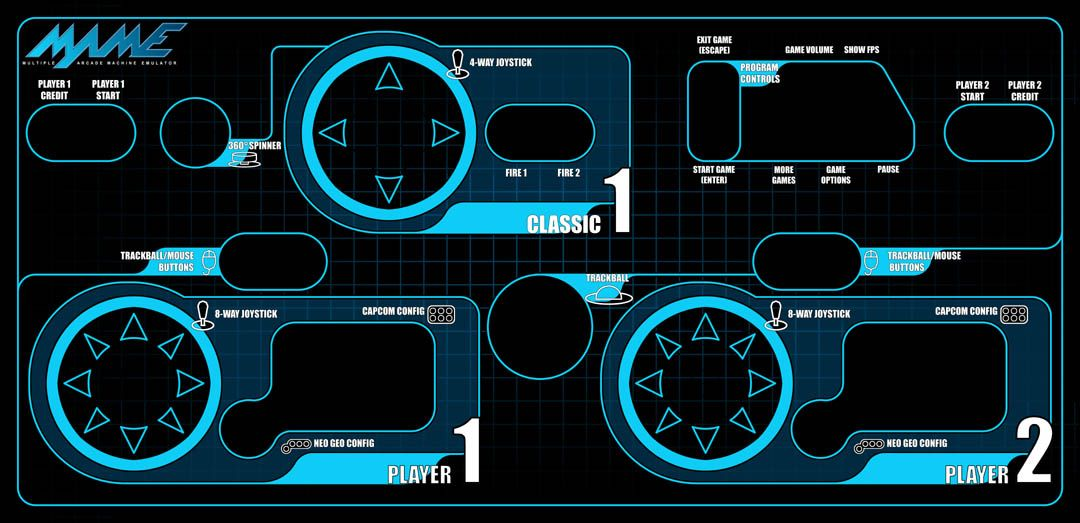Control Panel Layout And Configuration Arcade Mame