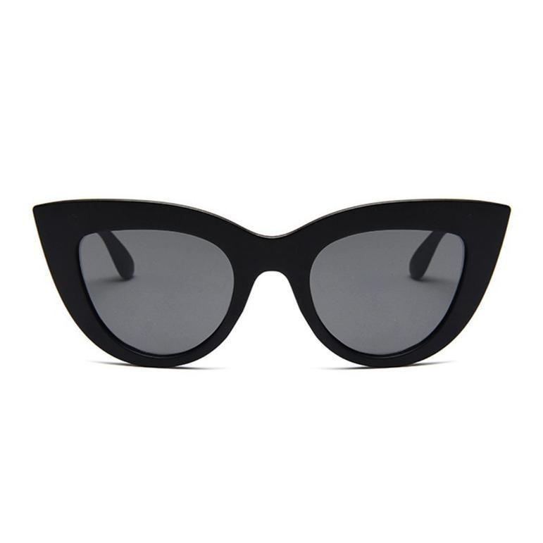 Retro Cat Eye Black Sun Glasses Female