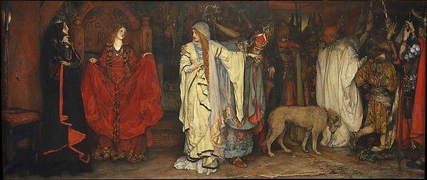 """King Lear,"" Act I, Scene I Edwin Austin Abbey  (American, Philadelphia, Pennsylvania 1852–1911 London)"