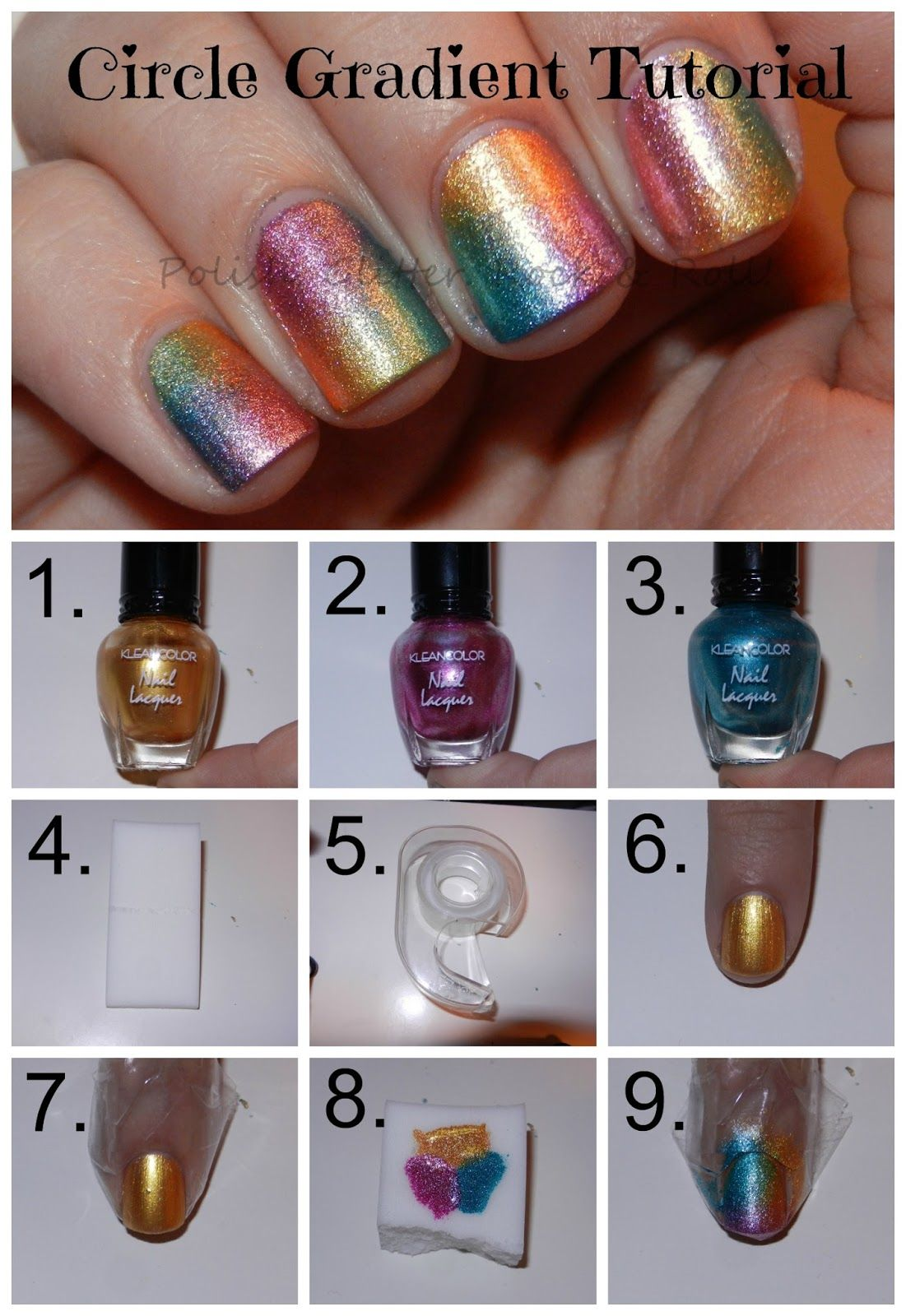 Tutorial arcoiris | Nails cute | Pinterest | Manicuras, Uñas lindas ...