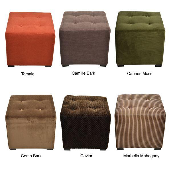 Surprising Merton 4 Button Tufted Square Ottoman Overstock 18 Inches Inzonedesignstudio Interior Chair Design Inzonedesignstudiocom