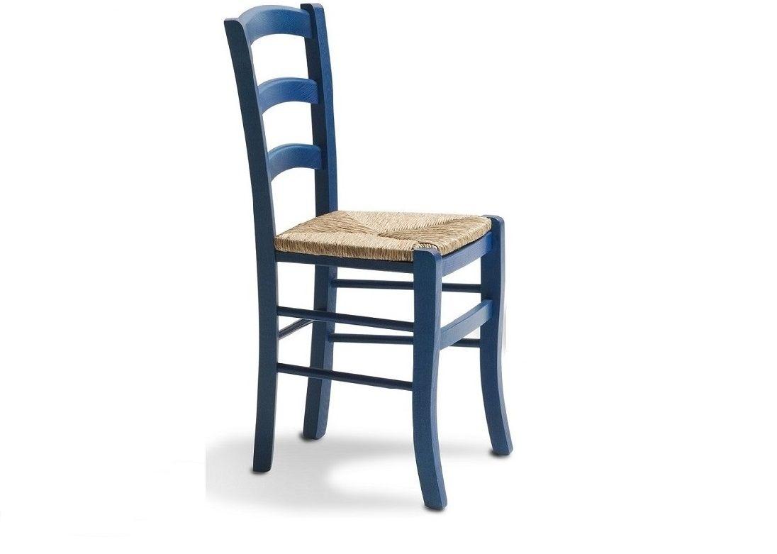sedia in faggio con seduta impagliata. colorata e allegra ideale