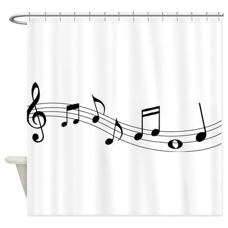 Music Notes Shower Curtain On CafePress