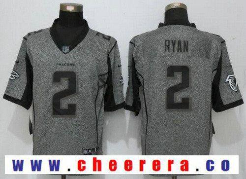b6ef305e527 Men's Atlanta Falcons #2 Matt Ryan Gray Gridiron Stitched NFL Nike Limited  Jersey