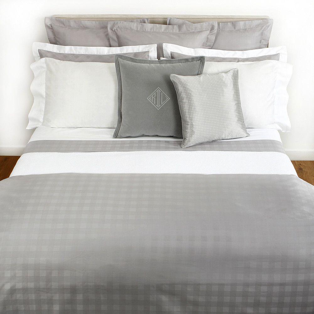 Ralph lauren plaid bedding - Glen Plaid Silver Duvet Cover Double From Ralph Lauren Home