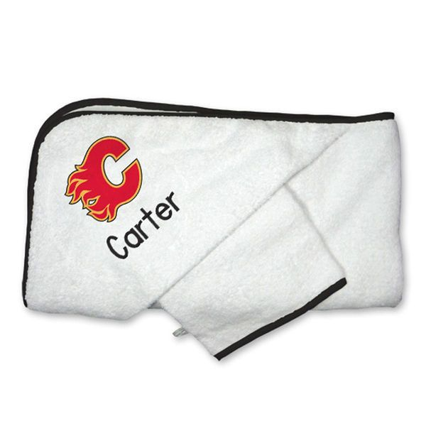 Calgary flames infant personalized hooded towel mitt set white calgary flames infant personalized hooded towel mitt set white 4499 negle Image collections
