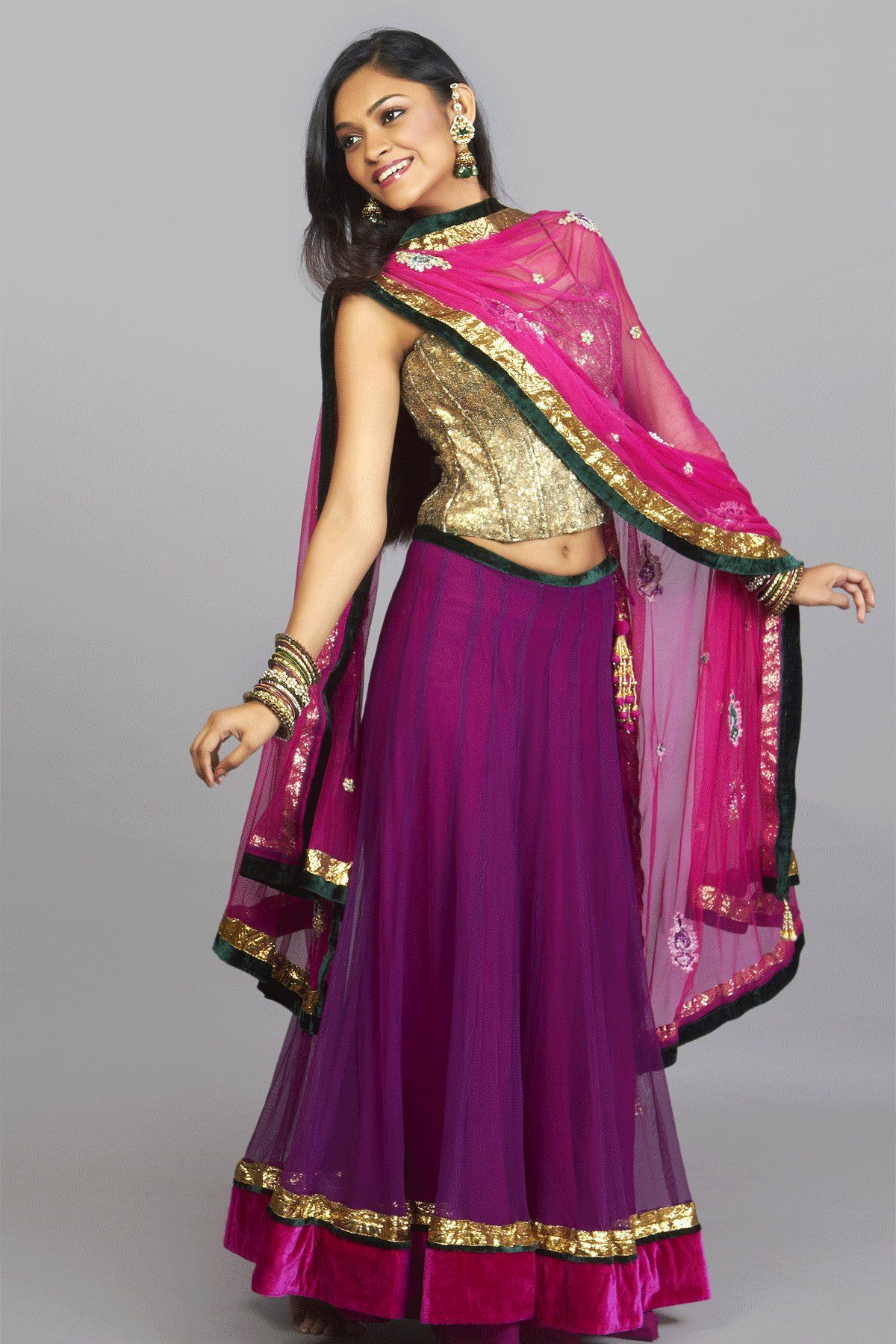 nice-simple-ghagra-for-girls.jpg (1200×1800) | indian dress and ...