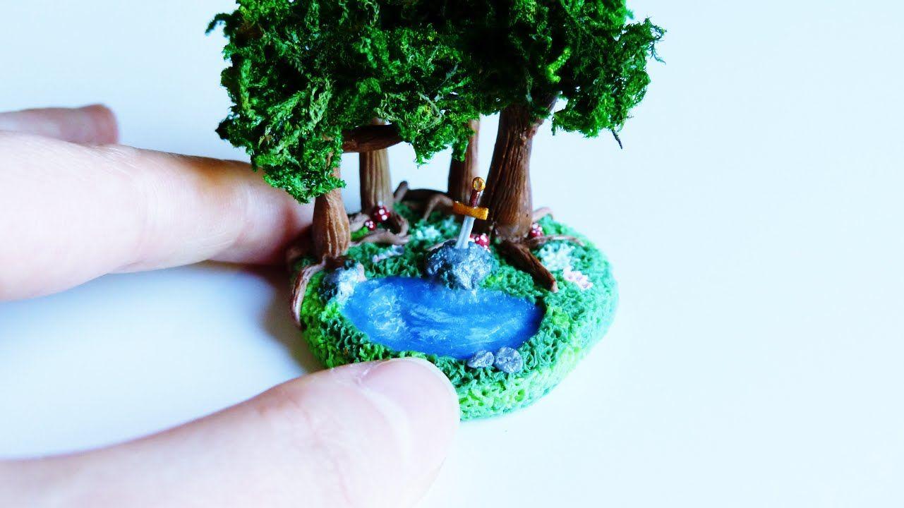 ♦ Tutorial: Polymer clay miniature Broceliande Forest