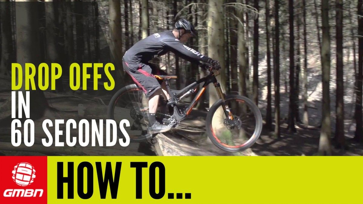 Video Learn How To Ride Drop Offs In Nearly 60 Seconds Mountain Biking Cannondale Mountain Bikes Mountain Biking Mountian Bike