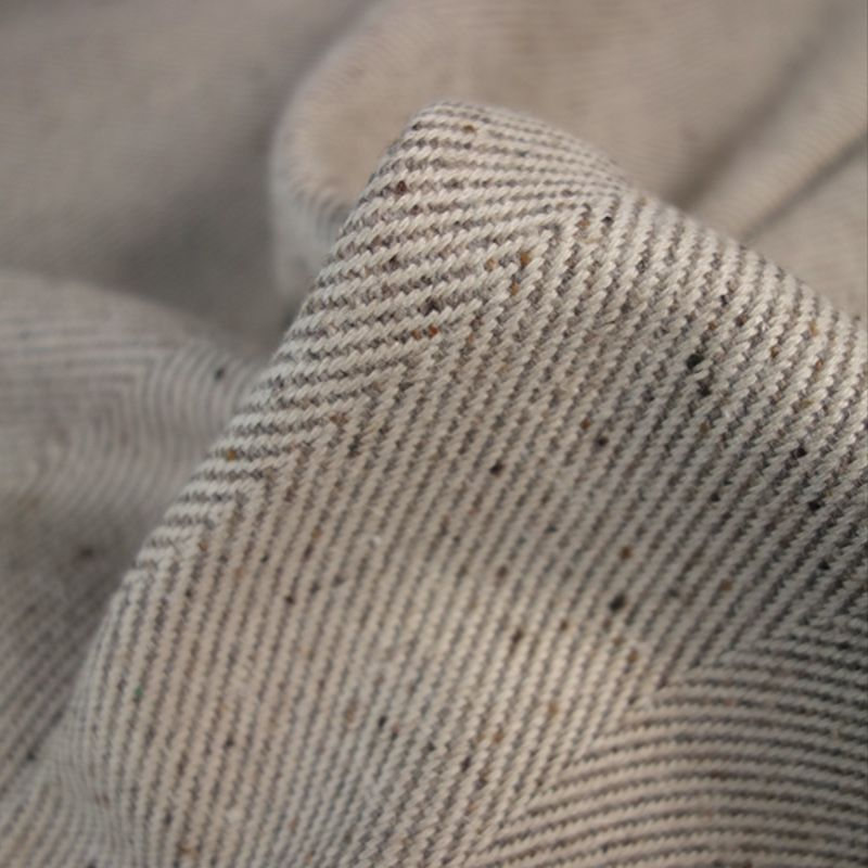 The Fawsley Wool Blend Herringbone Fabric Is Woven From Recycled