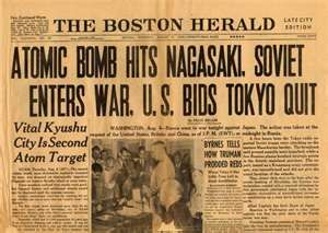 Newspaper Article of the Bombing of Japan in the 1940's | History ...