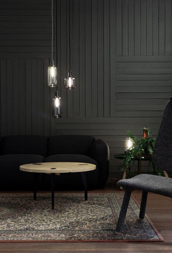25 Inviting Living Rooms With Wood Walls I Heart My Job Interiør Boligindretning Huse