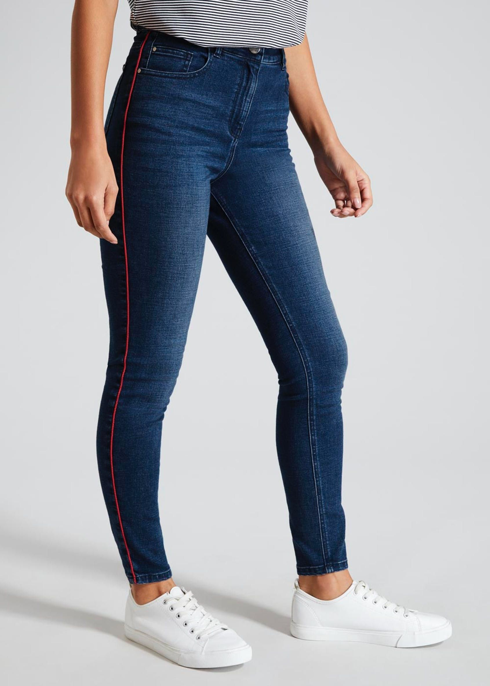 official supplier clearance sale various colors Jessie Side Stripe High Waisted Jeans   single stripe jean in 2019 ...