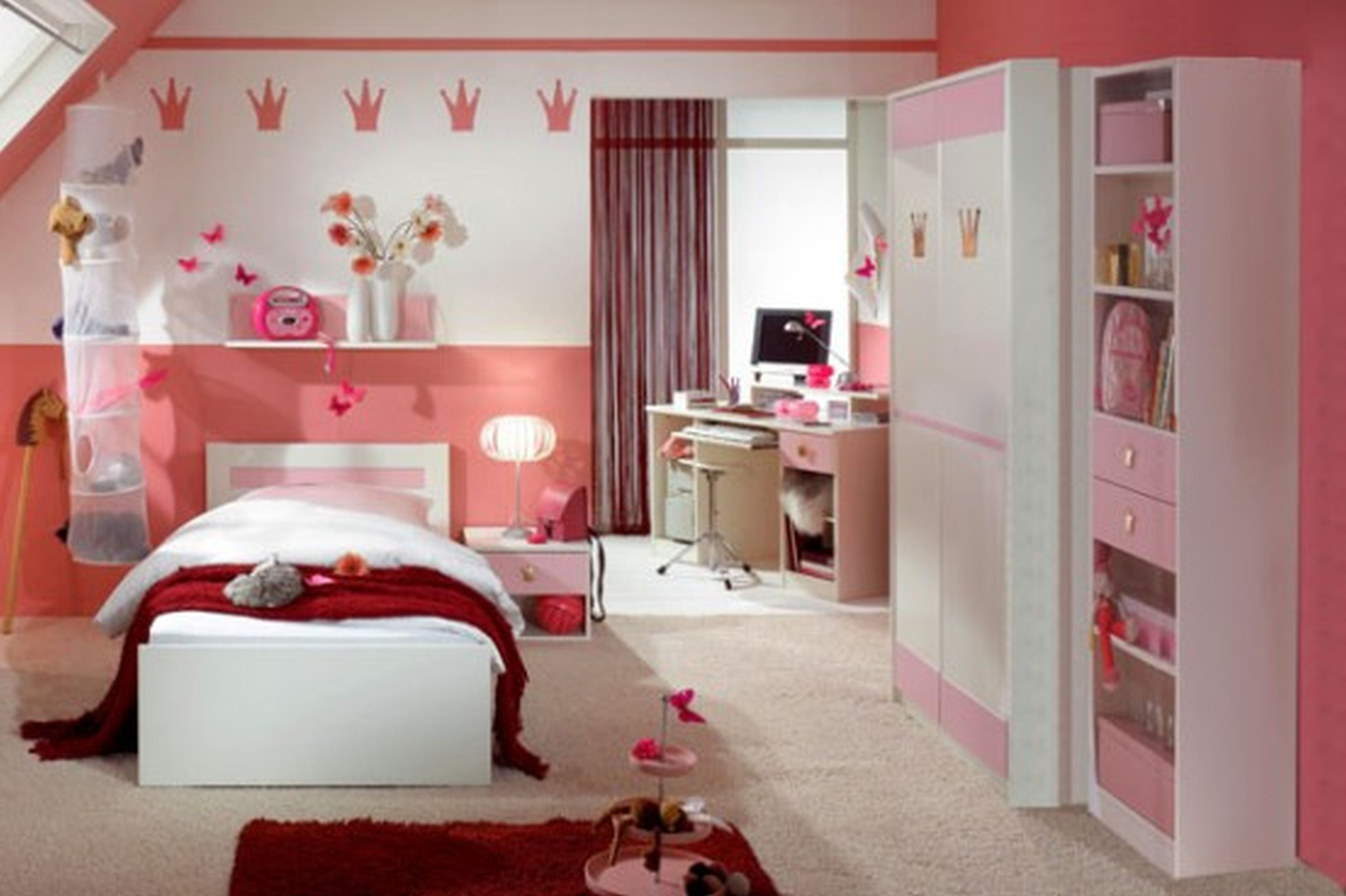 gorgeous girls bedroom ideas for small rooms : simple girls