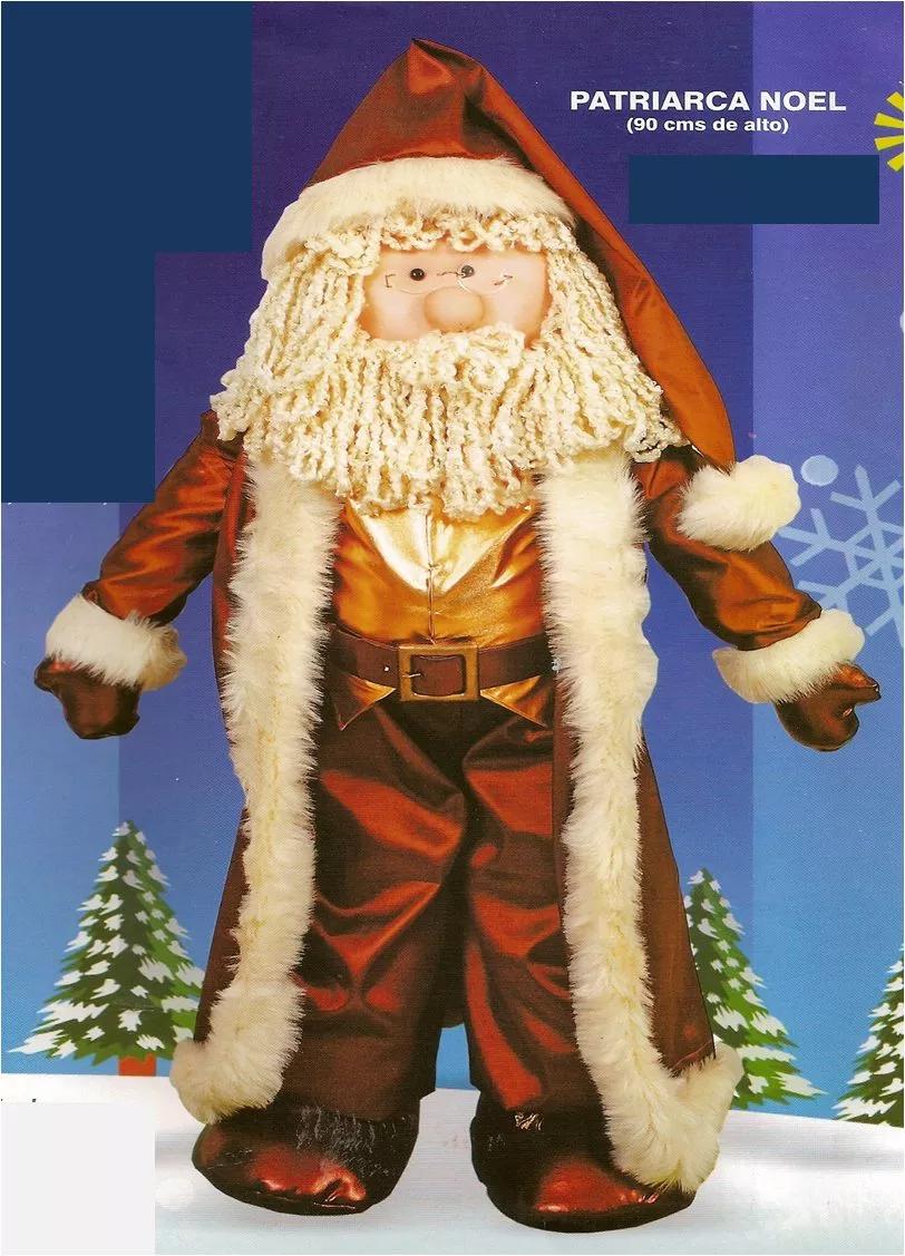 Patr n noel patriarca mu ecas de tela pinterest for Adornos navidenos mercadolibre