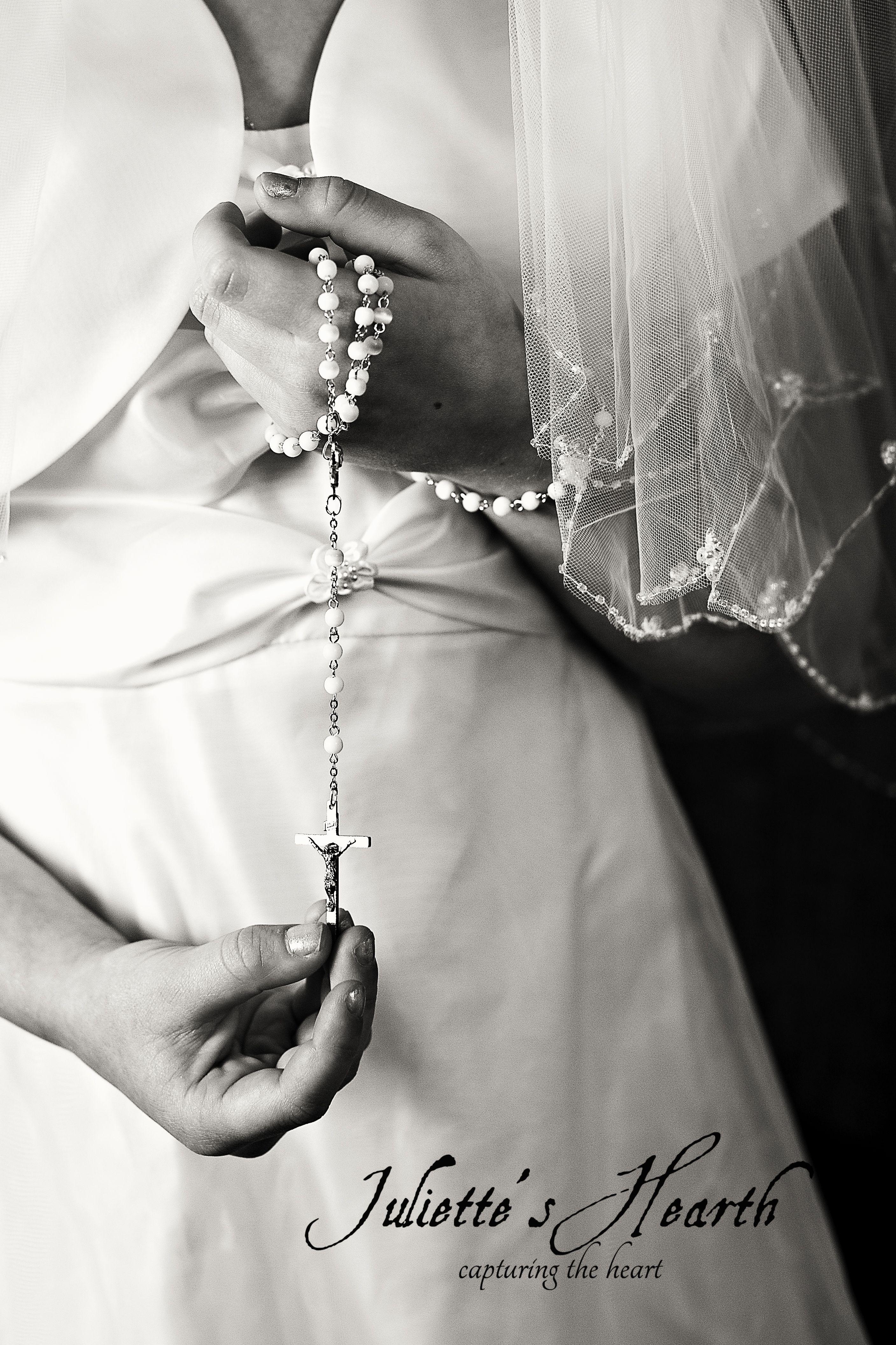 Juliette's Hearth ~ First Communion Portrait Rosary -  www.julietteshearth.com -Chicago Area