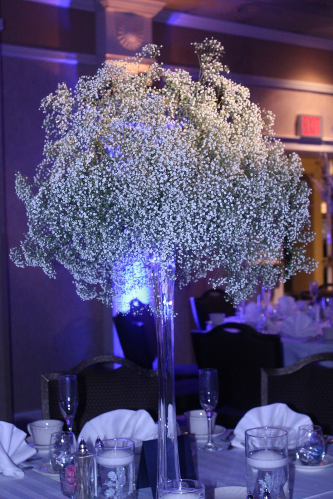 Flower vase kijiji - Eiffle Tower Vases Floral Arrangements Eiffel Tower Vases With Snowy Clouds Of Babys Breath For