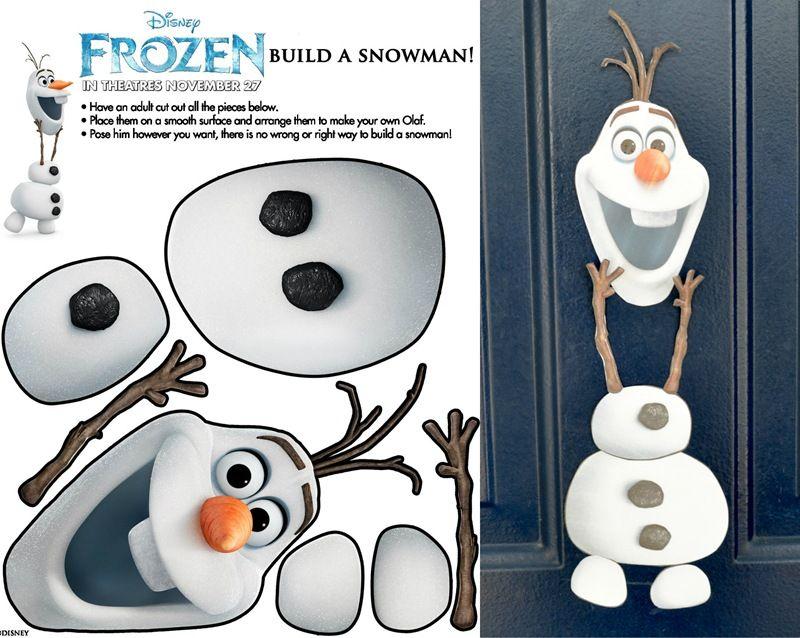 Olaf For Door Decor Christmas Classroom Christmas School School Door Decorations
