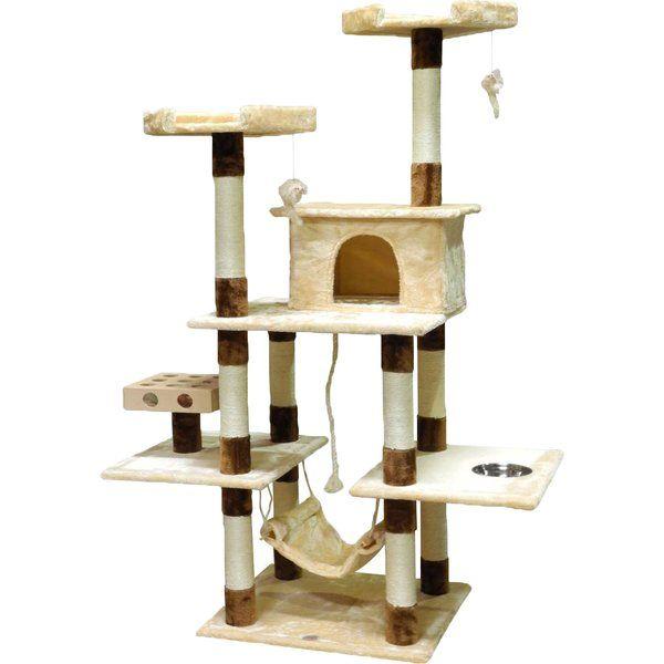 70 iq box cat tree cat tree house cats cat tree rh pinterest com