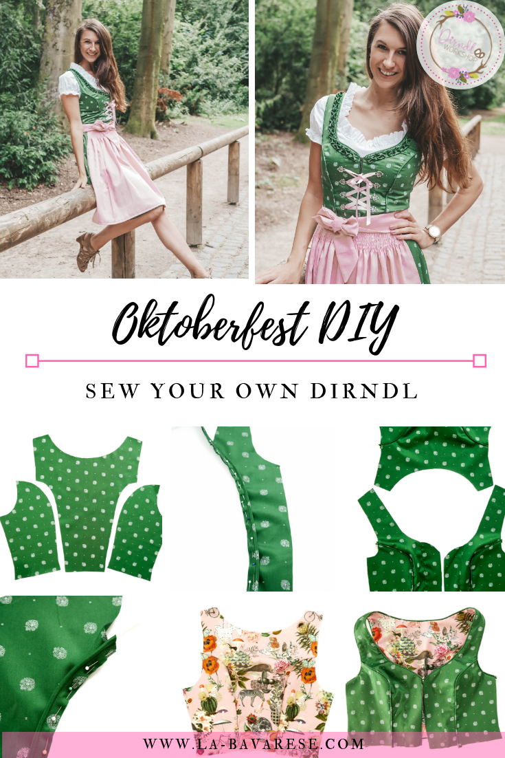 Dirndl Pattern, Dirndl Oktoberfest costume pattern, Dirndlworkshop, Austrian German Folk Dress