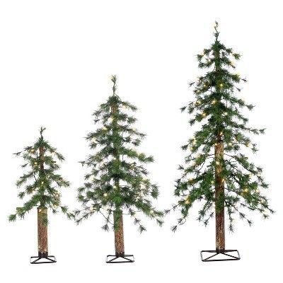2ft, 3ft, 4ft Pre-Lit Artificial Christmas Tree 3-pc Hard Needle