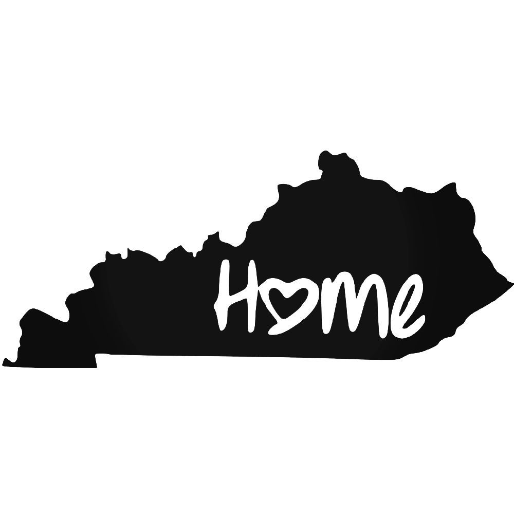 Kentucky home decal for car white vinyl