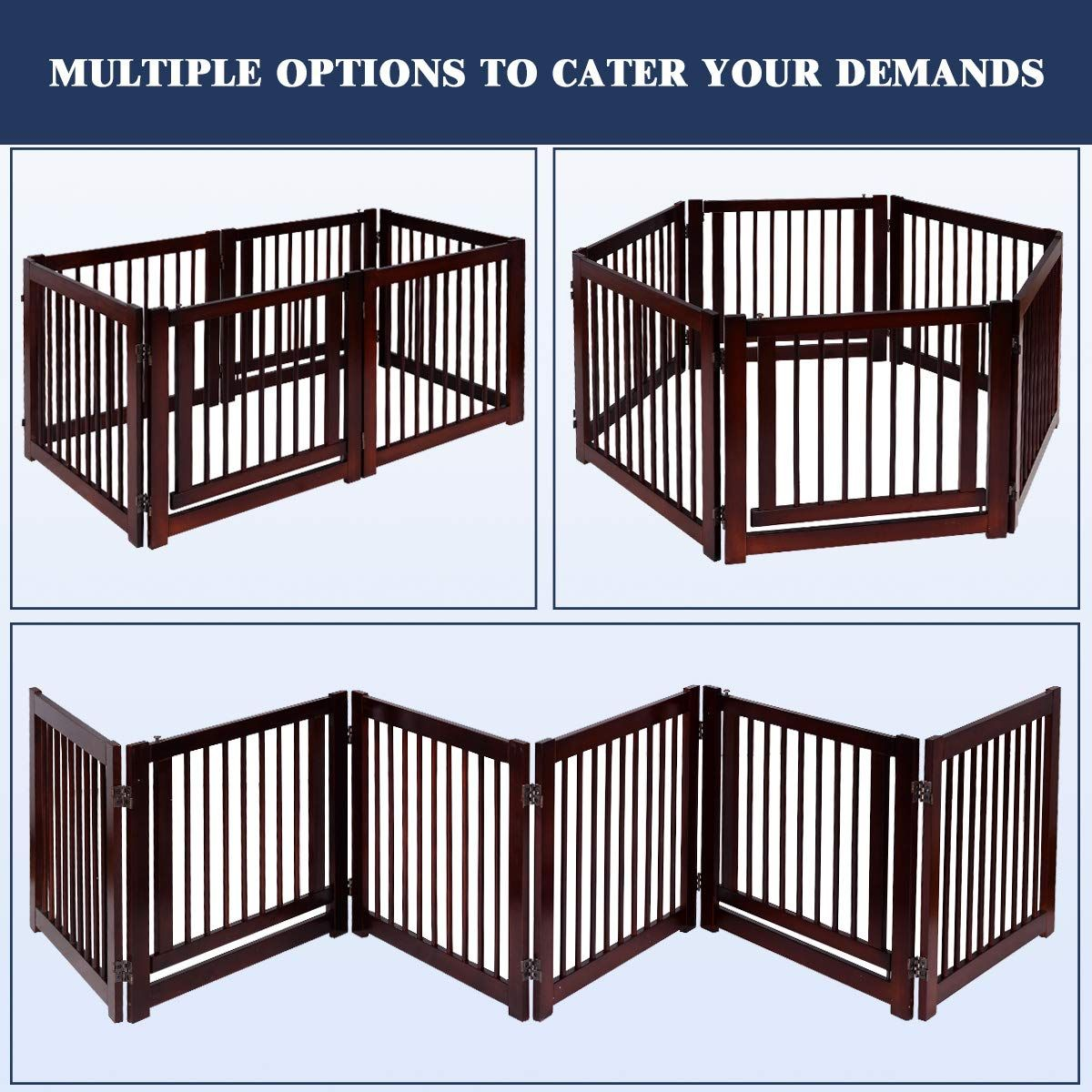 Giantex 24 Configurable Pet Gate Folding Free Standing 3 Panel