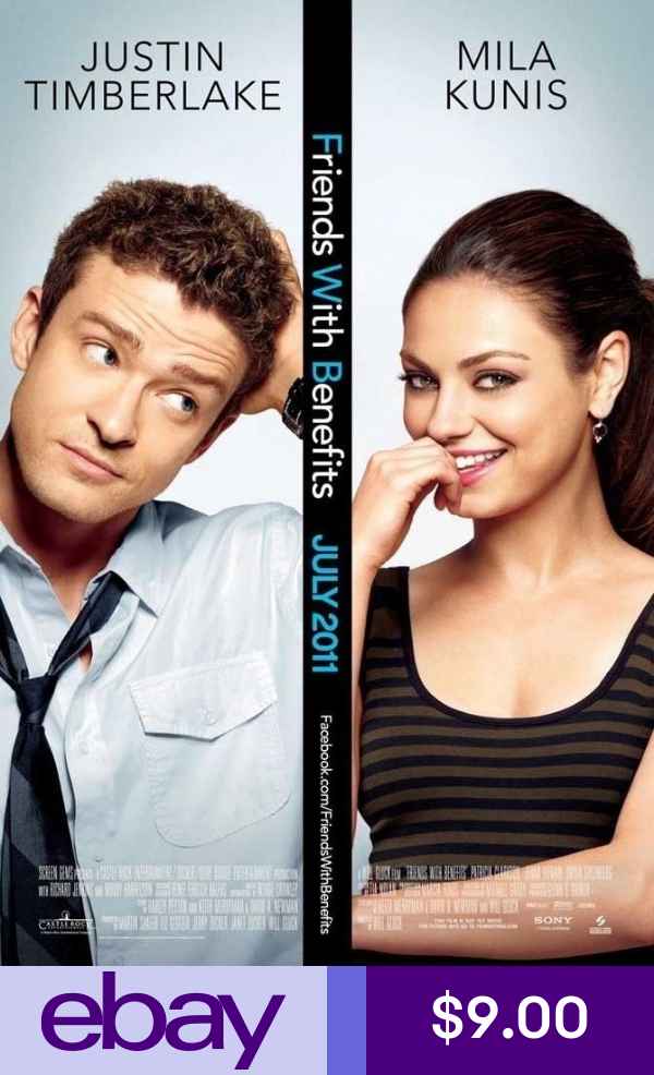 Friends With Benefits Movie Poster Ds Original 27x40 Friends With Benefits Movie Romantic Movies Friends With Benefits