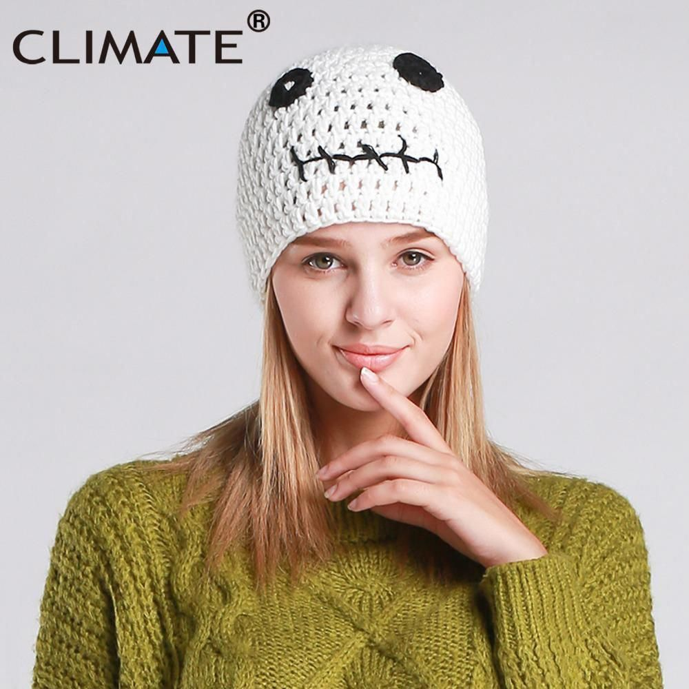 4ceaa361943 CLIMATE Halloween Costume Beanie Hat Cap Skeleton Winter Warm Knitted Hat  Beanie Women Men Funny Mummy