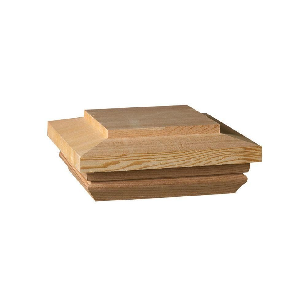 Weathershield Hampton 4 in. x 4 in. Pressure-Treated Wood Pyramid ...