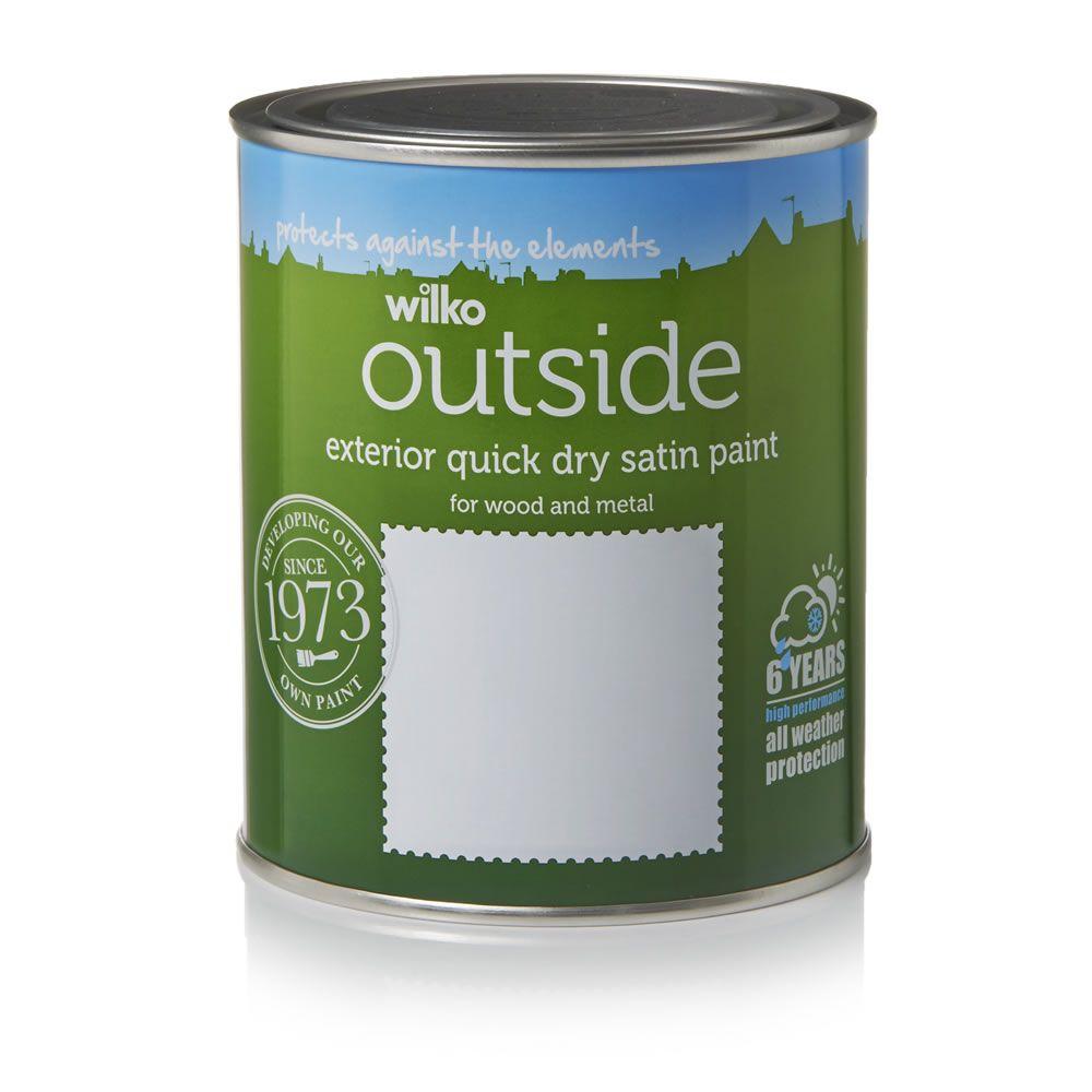 Summer Rain Quick Dry Satin Exterior Paint 750ml Exterior Paint Exterior Satin Paint