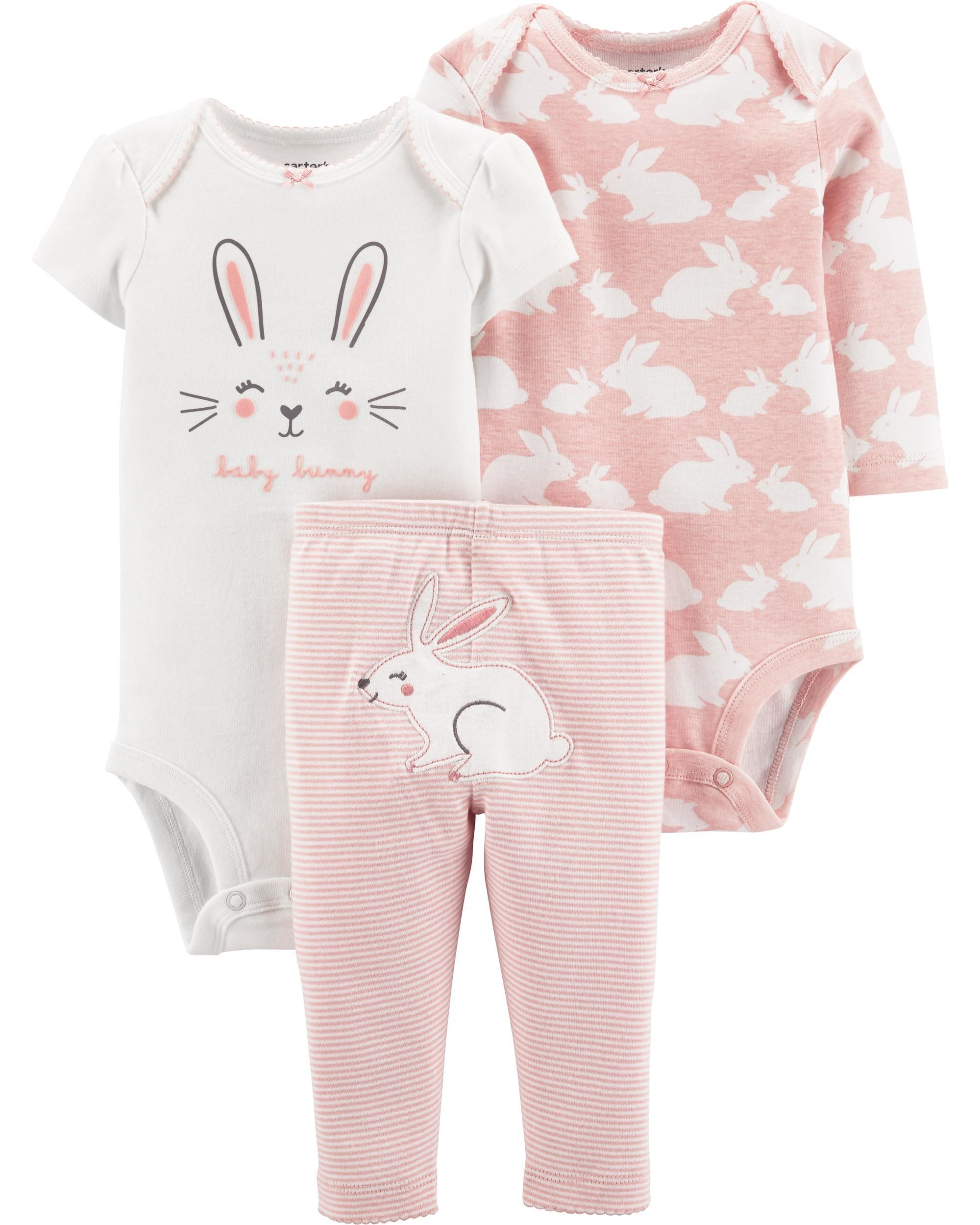 17b03ce21 3-Piece Bunny Little Character Set | lx | Carters baby girl, Baby ...