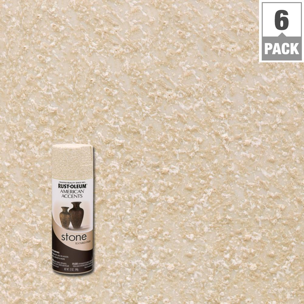 Rust Oleum American Accents 12 Oz Stone Creations Textured Spray Paint Stone Texture Sand Paint Color
