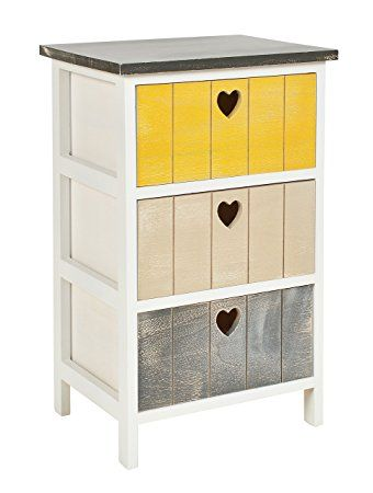 Ts Ideen Chest Of Drawers Bedside Cabinet Multicolor Shabby