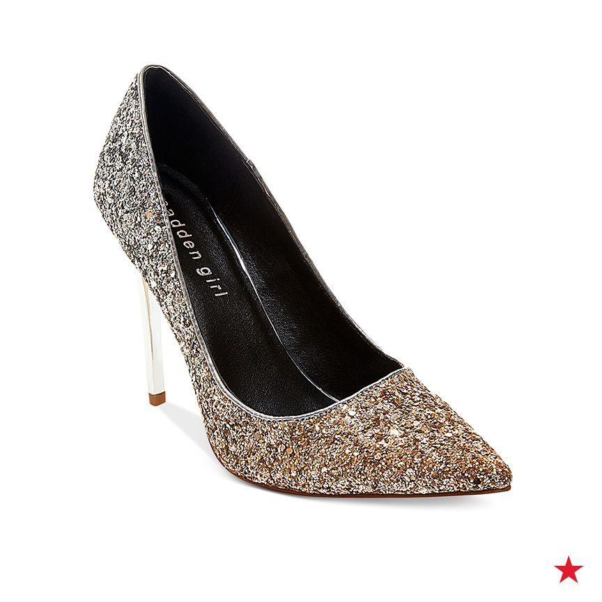 c9c8367a08c Hmm... silver or gold? We'll take both! Madden Girl Ohnice pointed ...