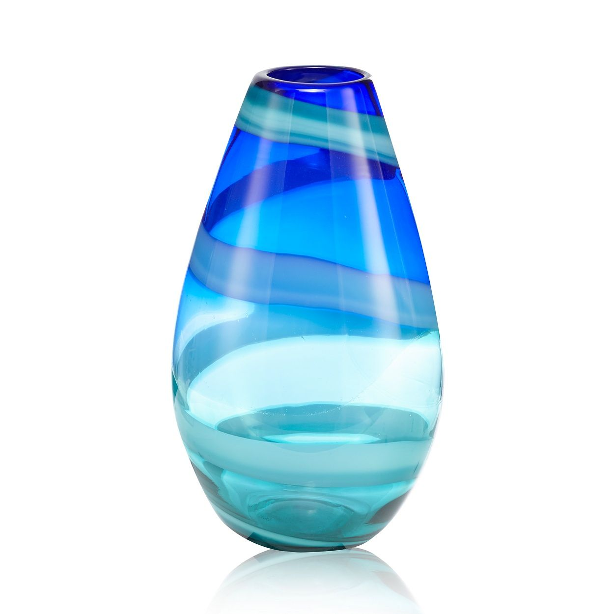 Butterfly Home by Matthew Williamson Dark blue swirl bullet vase ...