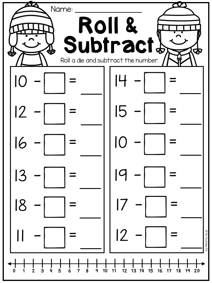 First Grade Addition And Subtraction Worksheets Distance Learning Addition And Subtraction Worksheets Subtraction Worksheets First Grade Addition
