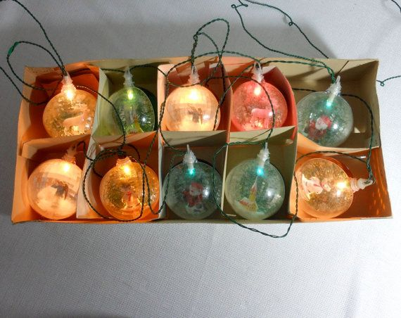 Vintage Christmas Globe Ornament Light Set Made In By 2cool2toss Christmas Globes Antique Christmas Ornaments Glass Christmas Ornaments
