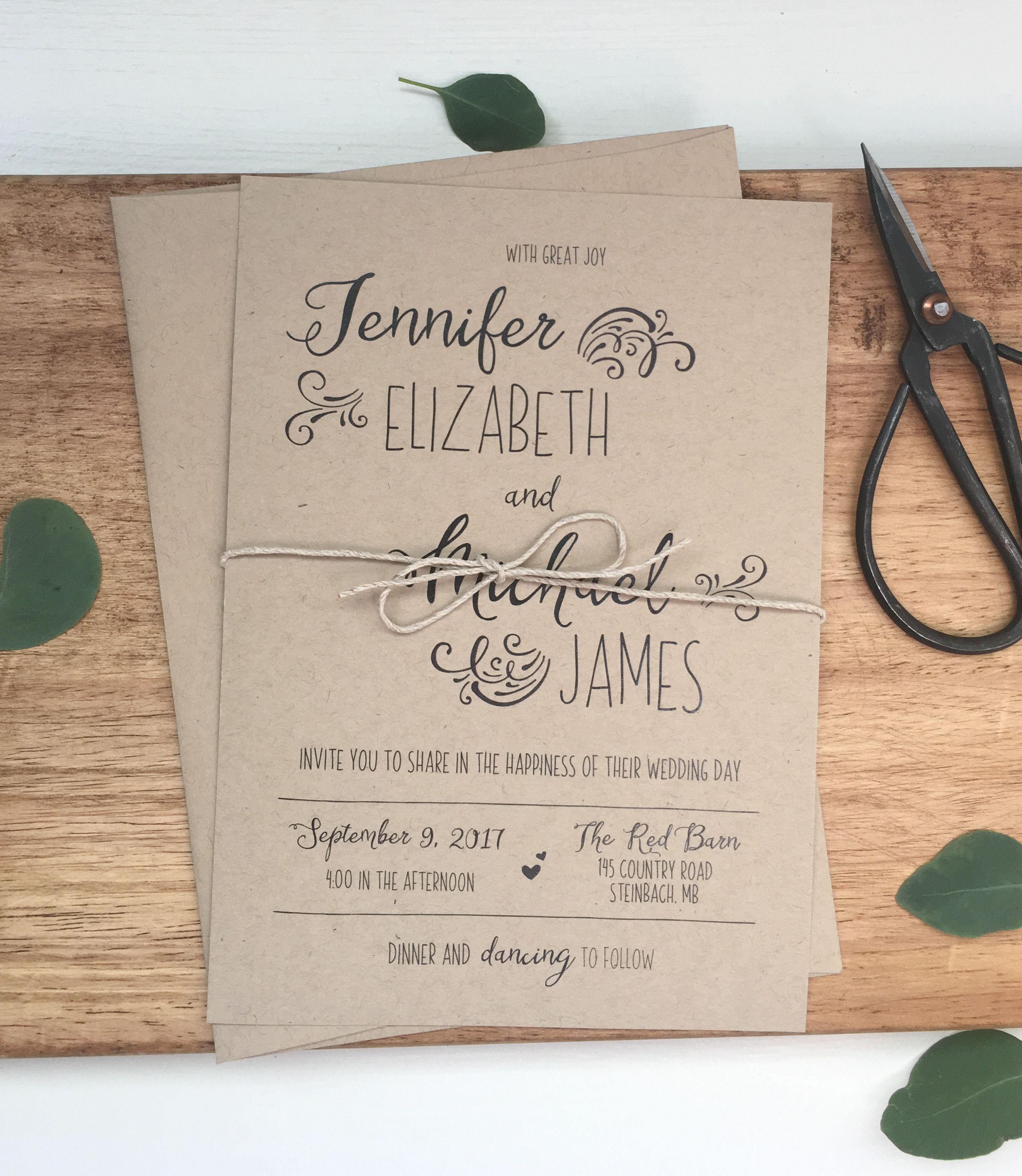 Rustic Wedding Invitation   Pinterest   Weddings, Invitation ideas ...