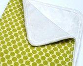 Green Dot Minky Baby Blanket