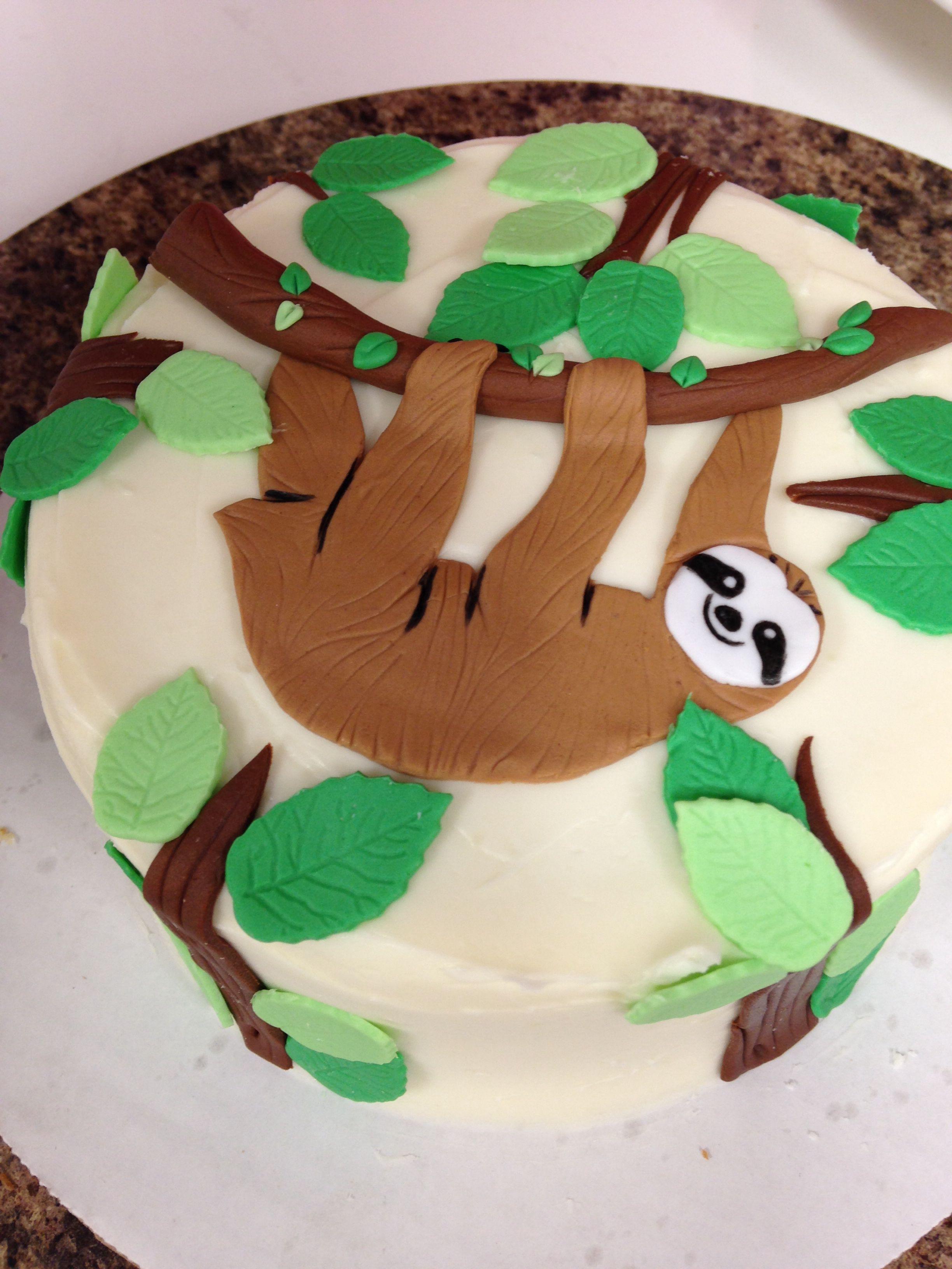 Sloth bday cake | sloths | Sloth cakes, Cake, Birthday cake